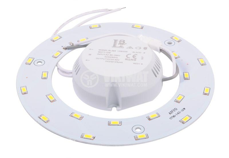 LED ринг BL438-12W/DW, 12W, 85/265VAC, 4200K - 3