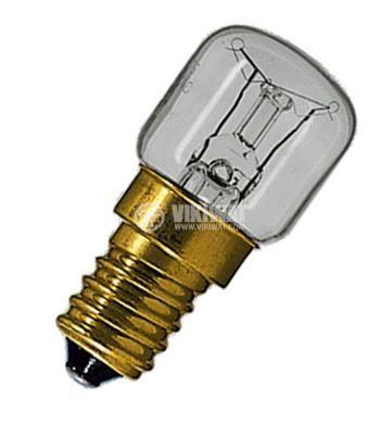 Лампа с нажежаема спирала 25 W, 220 VAC, E14, 300 °C - 2