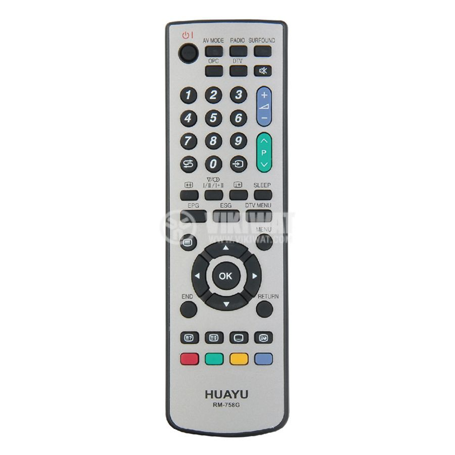 Remote Control For SHARP LCD RM 758G Vikiwat