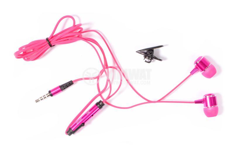 Headphones OVLENG iP-650, 3.5mm, pink - 2
