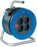 Extension reel, Brennenstuhl, Garant Compact, 4-way, 15m, 3x1.5mm2, ф180mm, blue, 1079180004