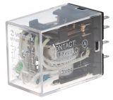 Електромагнитно реле MY4N, бобина 12VDC, 240VAC/5A, 4PDT - 4NO+4NC
