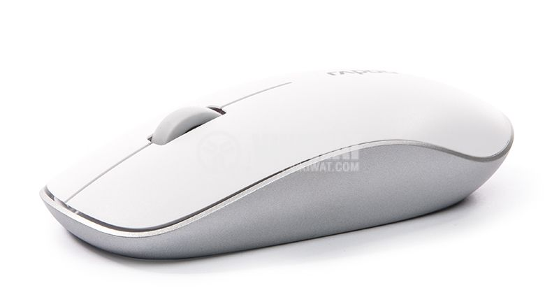 Mouse, wireless, white, with 3 buttons, RAPOO, 3500P - 1
