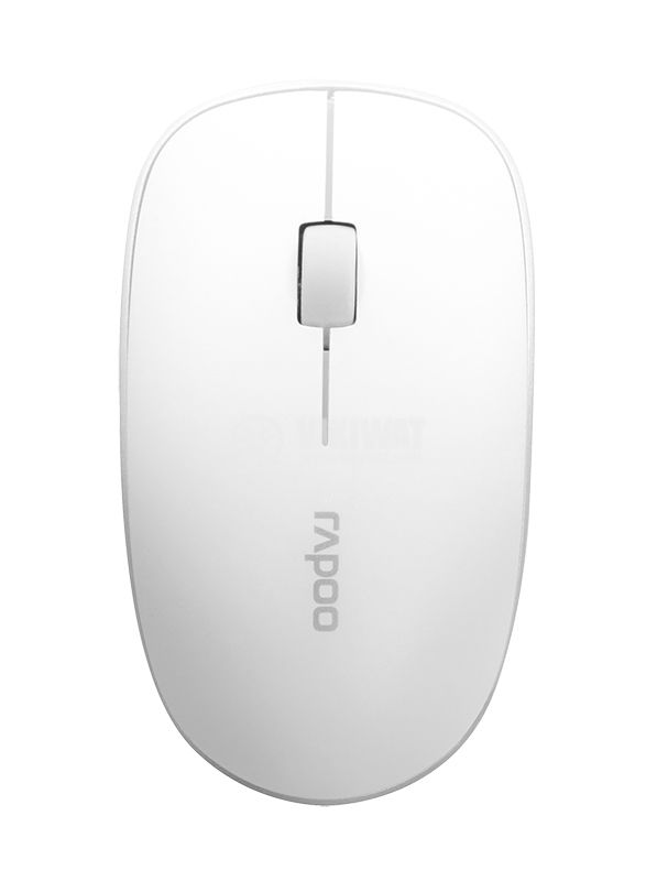 Mouse, wireless, white, with 3 buttons, RAPOO, 3500P - 2