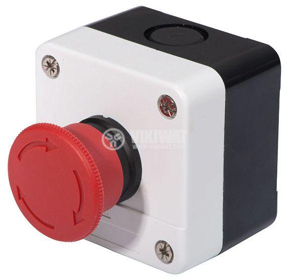 Single Mushroom Push Button, XAL-B174H29 240V/6A SPST - NC - 1