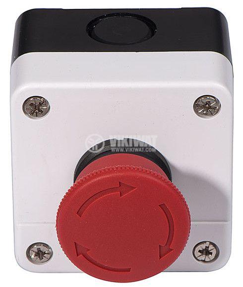 Single Mushroom Push Button, XAL-B174H29 240V/6A SPST - NC - 2