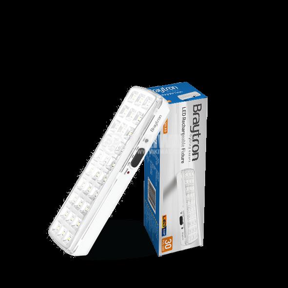 Emergency LED rechargeable fixture EXIT, 2W, 220VAC, 6500K, cool white, BM30-30LEDs, BC01-00130 - 1