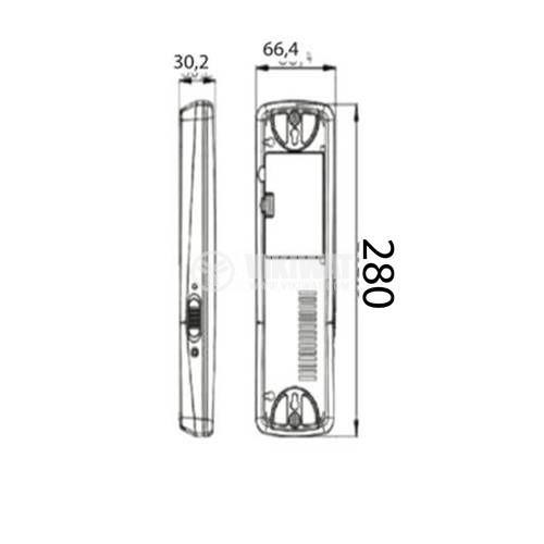 Emergency LED rechargeable fixture EXIT, 2W, 220VAC, 6500K, cool white, BM30-30LEDs, BC01-00130 - 2