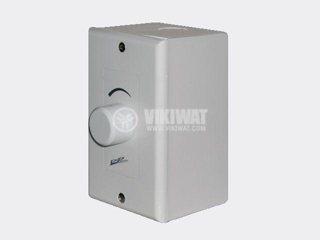 Volume control, VC-505E, 5W, external mount, white, waterproof - 2