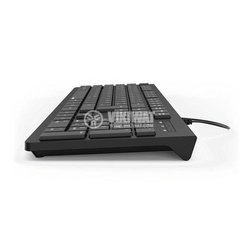 Мултимедийна клавиатура АК-220 USB черна hama - 3