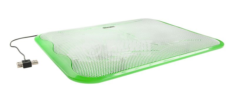 Laptop cooling pad, green, 10 to 17 inch laptops - 3
