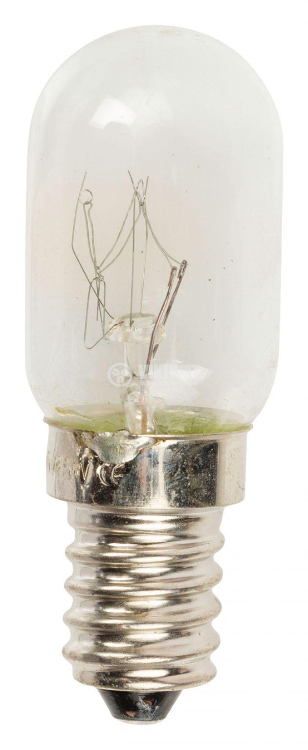 Обикновена лампа за хладилник 220V 15W Е14