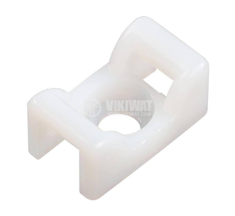 Holder for cable bandage KR8G5-PA66-NA, 14,5x25mm, white - 1