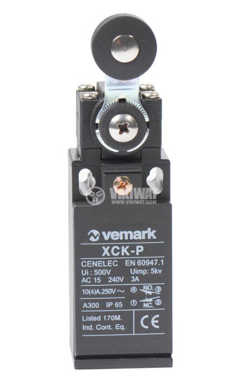 Краен изключвател XCK-P118, DPST-NO+NC, 10(4)A/250VAC, рамо с ролка - 1