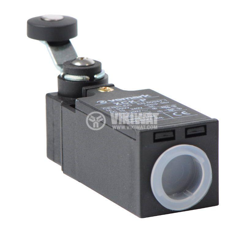 Краен изключвател XCK-P118, DPST-NO+NC, 10(4)A/250VAC, рамо с ролка - 2