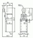 Краен изключвател XCK-P118, DPST-NO+NC, 10(4)A/250VAC, рамо с ролка - 3