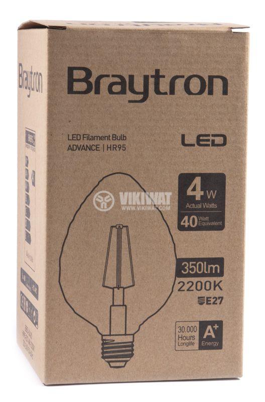 LED лампа BB55-00420, Е27, 4W, 2200K, 350LM, топло бяла - 5