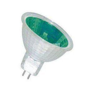 Халогенна лампа MR11, G4, 12 V, 35 W, закрита, зелена
