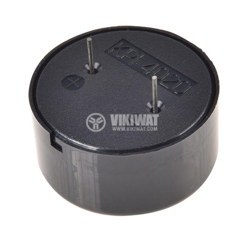 Buzzer, KPI-G4020, 12VDC, 100dB, 3.2kHz, Ф40x20mm, piezoelectric, with generator - 4