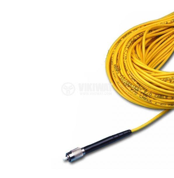 Оптично влакно HPC-S0.66 с  прав накрайник, 20m жълт кабел