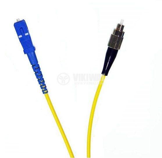 Оптично влакно HPC-S0.66 с два накрайника, 20m жълт кабел