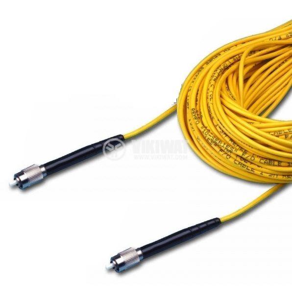 Оптично влакно  HPC-S0.66 с  два накрайника, 20m сив кабел