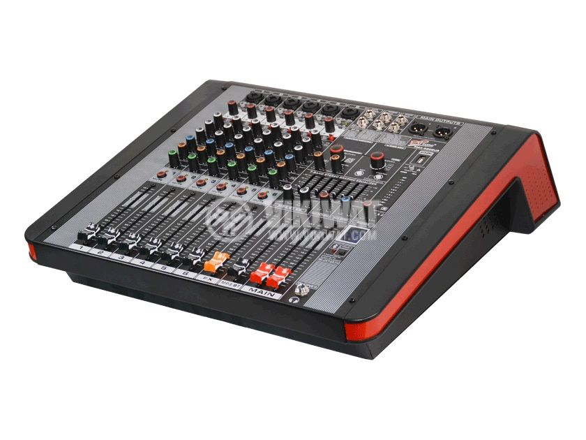 Professional mixer MPX-6300UB, 6-channel, Bluetooth, USB, MP3 - 1