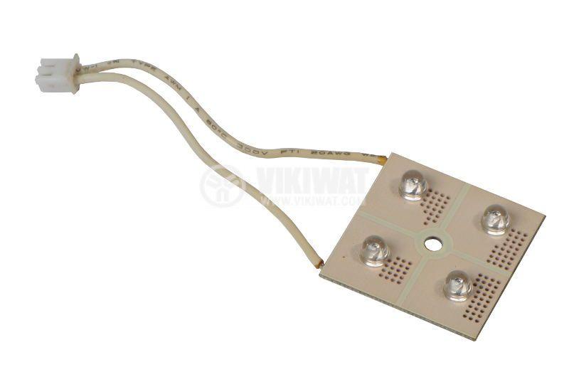 LED модул, 4LED, 0,2W, 12VDC, червен