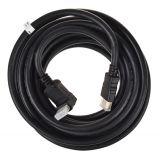 Кабел HDMI M, HDMI M Г-образен, черен