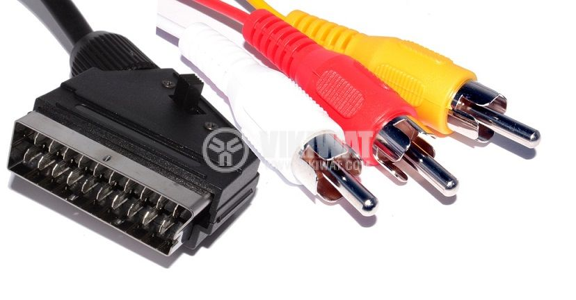 Cable SD2101 SCART/m-3xRCA/m, 1.5 m  - 2