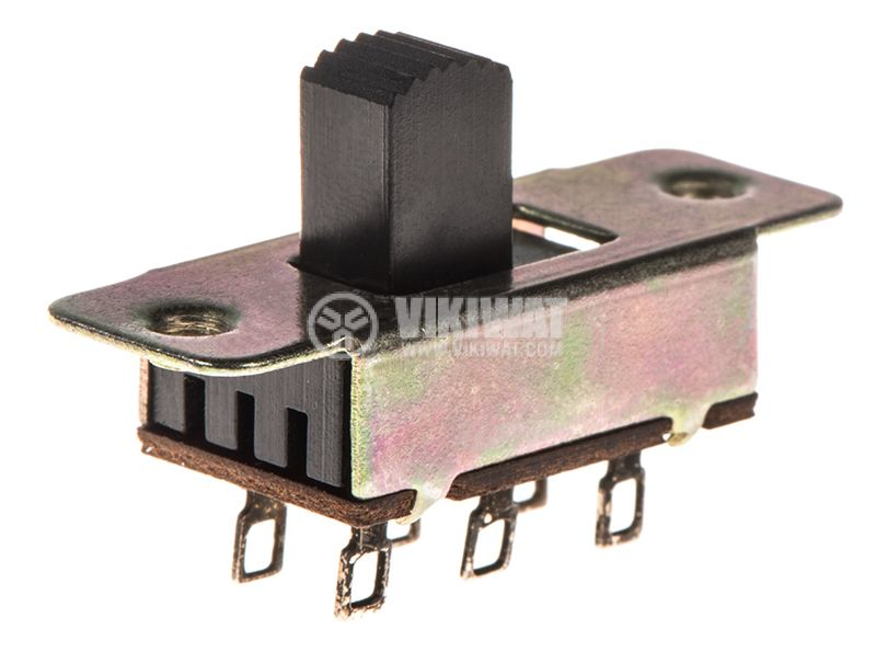 Slide Switch 2 positions, 50VDC, 0.6A, DPDT - 1