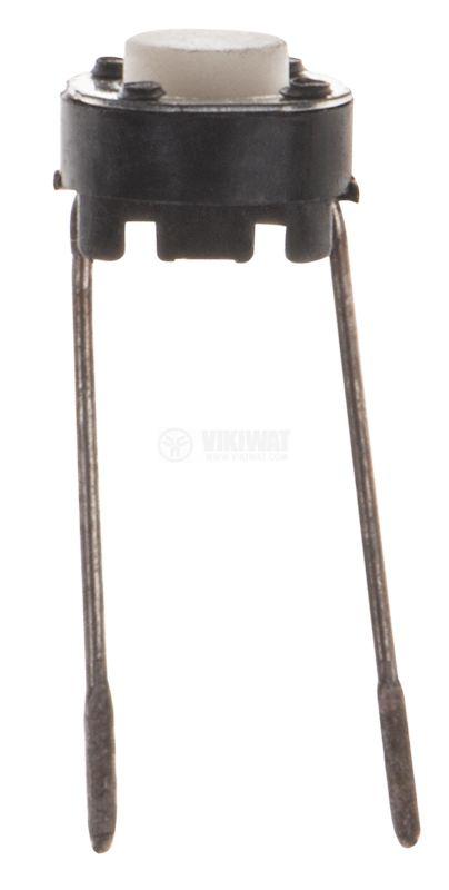 Микрек -Овал, 50 V, 0.05 A, SPST, OFF(ON), незадържащ, печатен монтаж, Черен, ф6x5 mm, 1NO контакт - 1