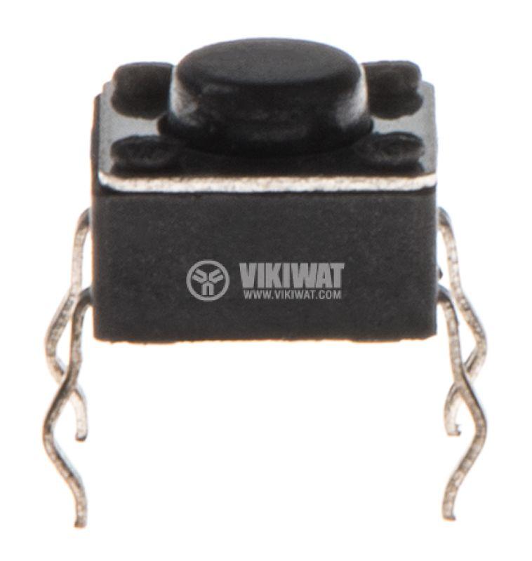 Микробутон, 6x6x4.5mm, SPST, OFF-(ON), THT - 2