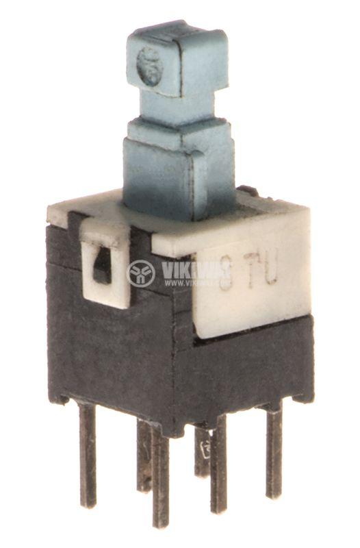Микробутон, 6x6x6mm, DPDT, OFF-(ON), THT - 1