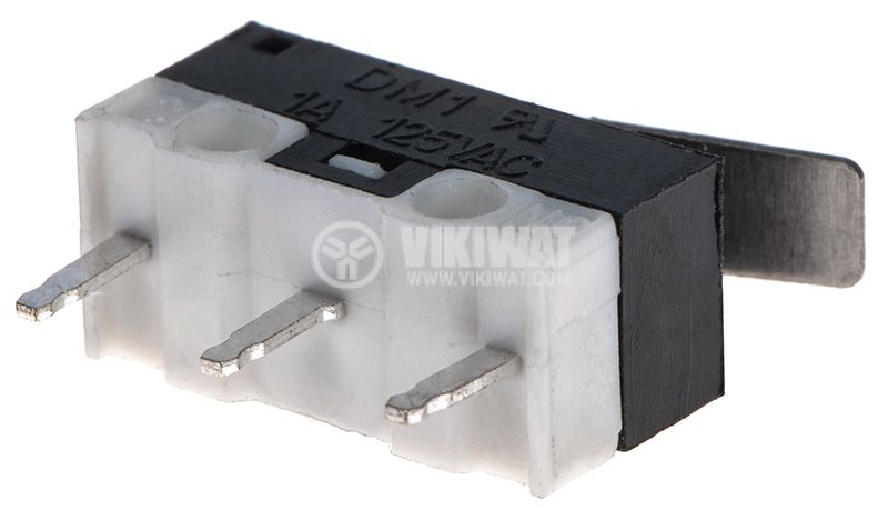 Microswitch SPDT, 1A/125VAC, 12.8x5.8x5.8mm, ON-(ON) - 2