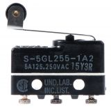 Microswitch lever with roller, SPDT, 3A / 250VAC, 19.8x6.4x10.2mm, ON- (ON), SS-5GL2