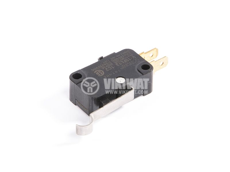 Microswitch with lever, 15А, 250VAC, 0.6A, 125VDC, 0.3А, 250VDC - 2