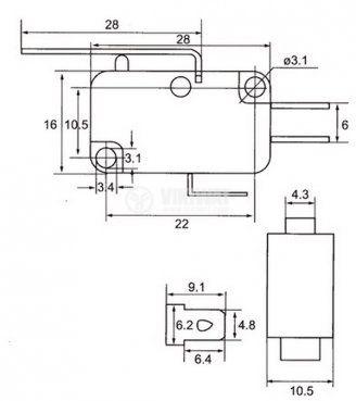 Микропревключвател с лост - 2