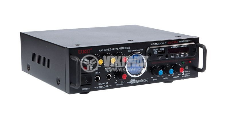 Amplifier UKC AV-339A, karaoke, USB port, SD slot, MP3, FM - 1