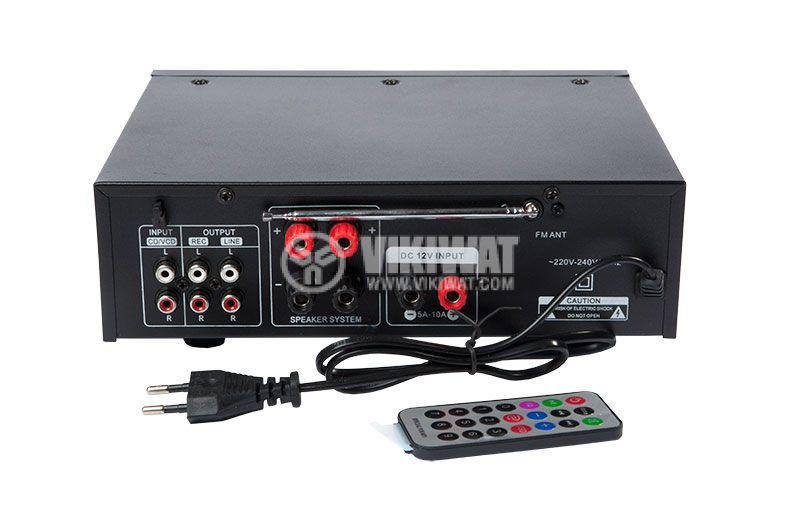 Amplifier UKC AV-339A, karaoke, USB port, SD slot, MP3, FM - 3