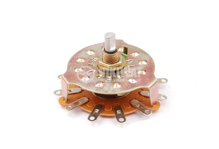 Ротационен превключвател (Галета) RBS-3 - 1 секция, 12 положения, 12пина