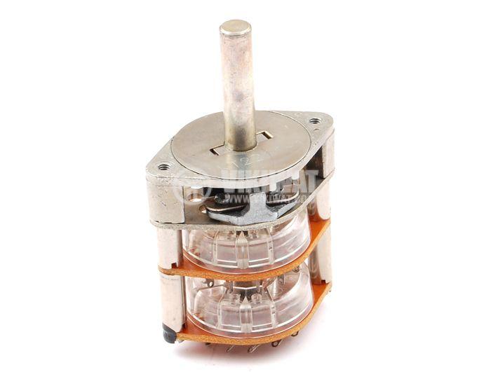 Ротационен превключвател (Галета) - 2 секции, 11 положения, 24 пина