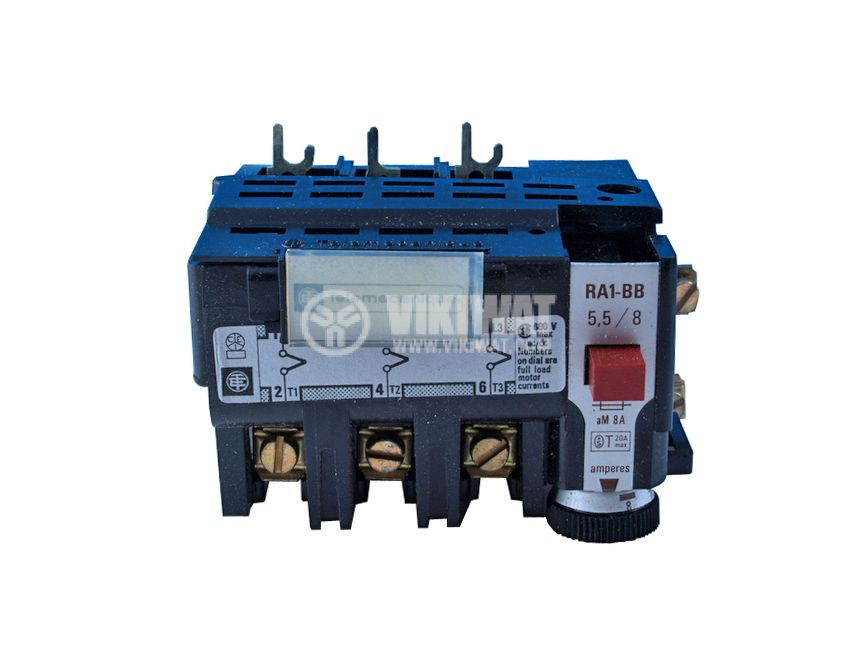 Thermal relay, RA1-1625, three-phase, 1.6-2.5 A, SPST - NC, 1 A, 380 VAC - 1