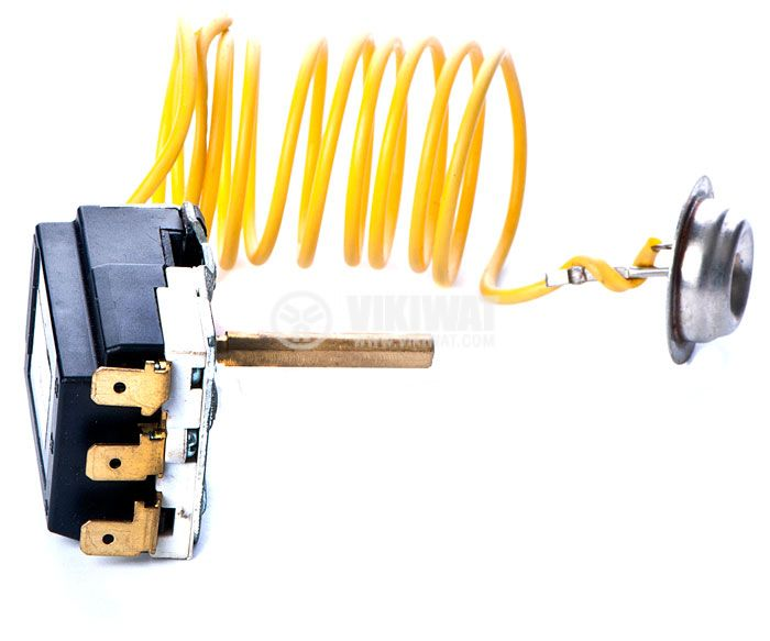 Терморегулатор, капилярен, WY90-965-22XA, +30 °C +90 °C, NO+NC, 16 A / 250 VAC - 4