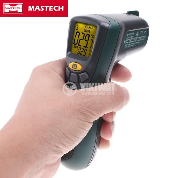 Infrared thermometer, MS6520B, - 20 °C to +500 °C, D:S 10:1 - 2
