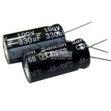 Кондензатор електролитен 2200uF, 16V, THT, Ф10x20mm
