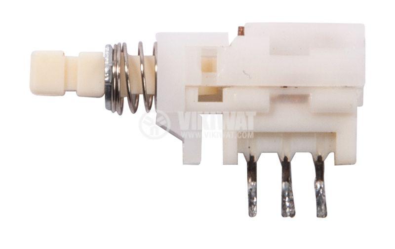Isostatic switch, DPDT retention, white key, 7x10x15mm - 1