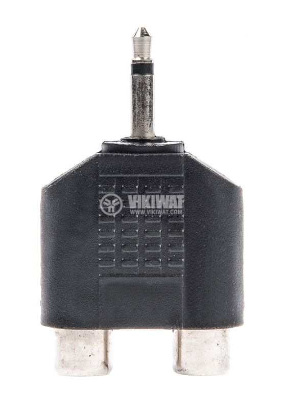 Преход, plug 3.5 mono M-2xRCA F - 1