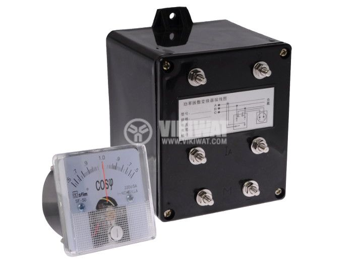 Power Factor Meter (cos φ), 220VAC, 0.5-1-0.5 - 1