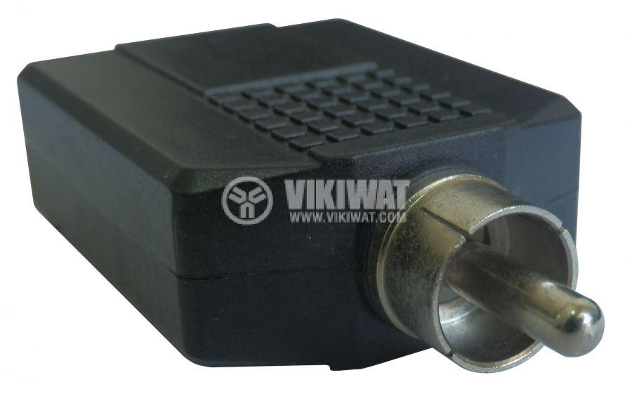 Преход, RCA M-2x plug 6.3 mono F - 1